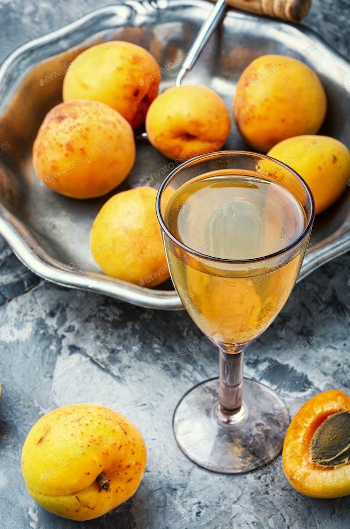 Sweet apricot wine