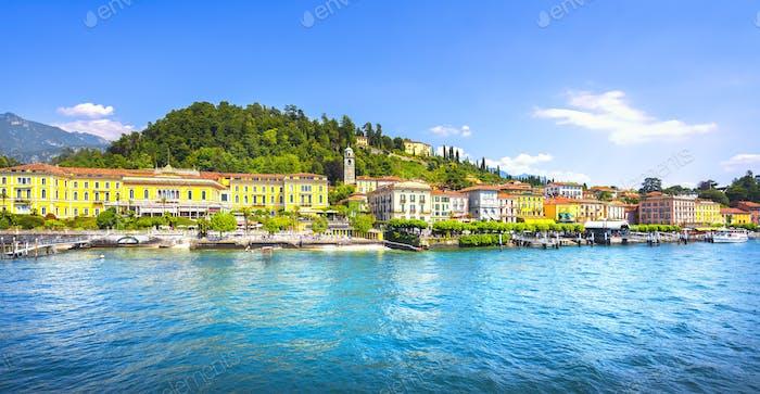 Bellagio town, Como Lake district landscape. Italy, Europe.