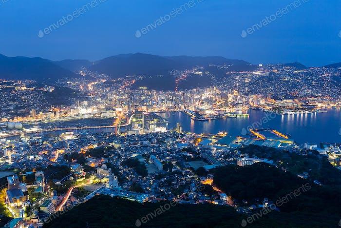 Night Shot of Nagasaki City