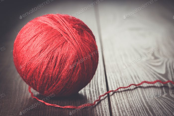 red ball of threads