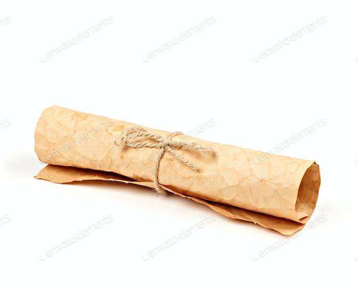 Papier gerollt