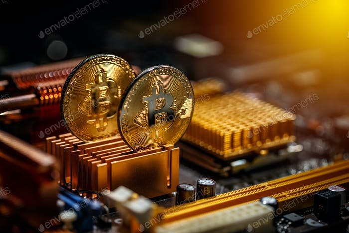 Gold bitcoin coin