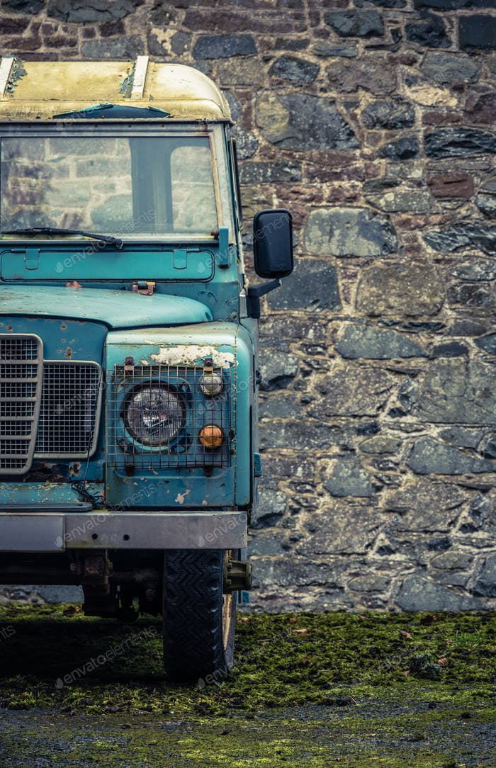 Grungy Farmyard Truck