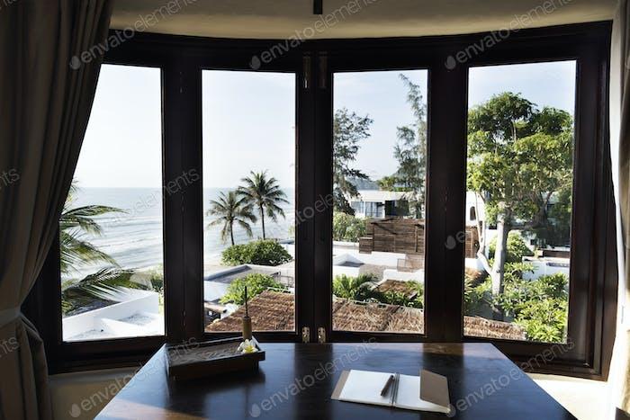 Innenräume eines luxuriösen Hotelzimmers