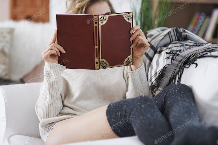 She is addicted to books