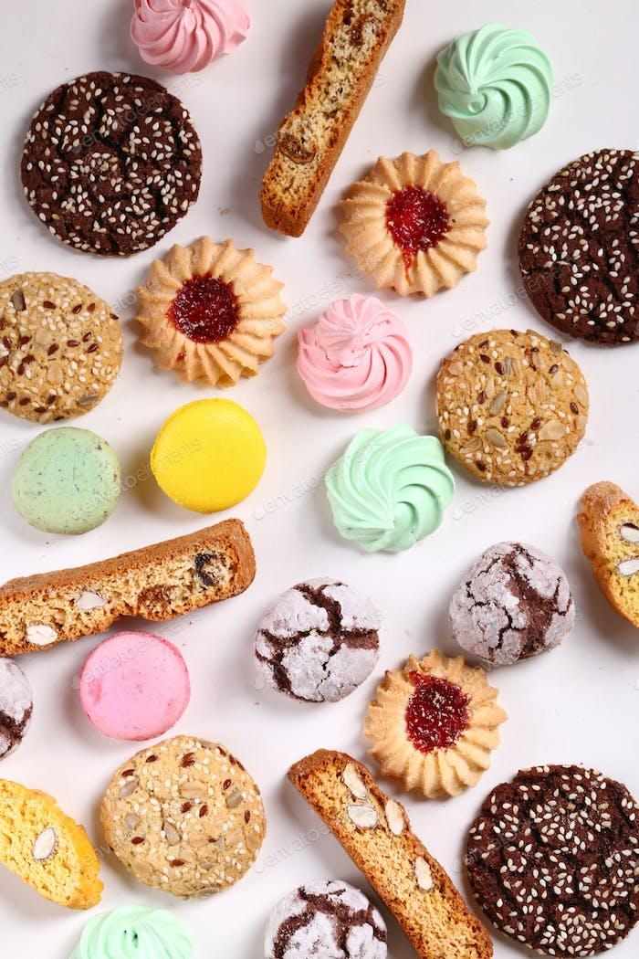 Various Sweet Pastries Cookies