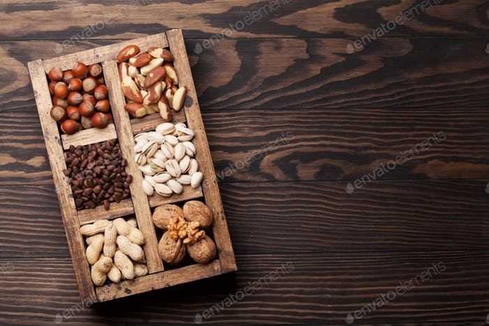 Various nuts selection