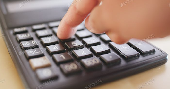 Counting on calculator