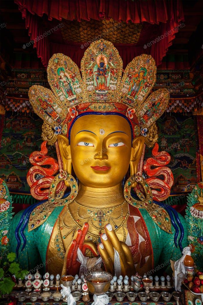 Maitreya Buddha in Thiksey Gompa