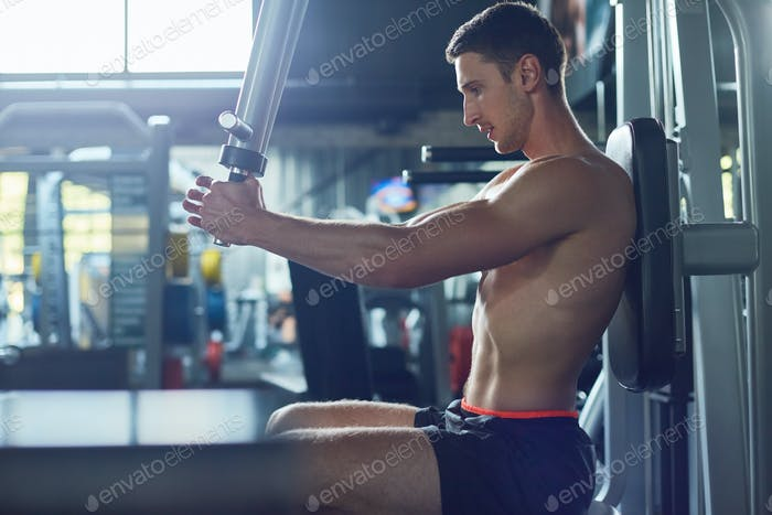 Training Upper Body at Gym