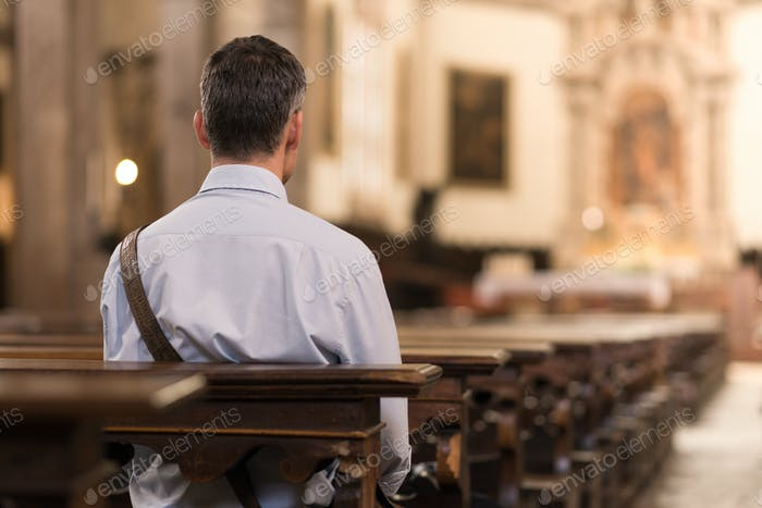 Man sitting at Church