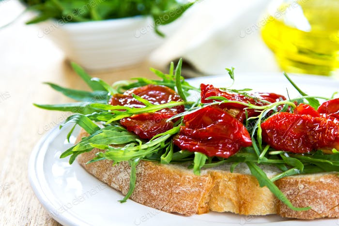 Sun dried Tomato with Rocket sandwich