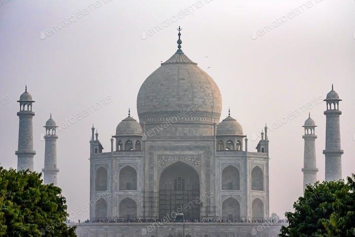 Taj Mahal scenic view in Agra, India