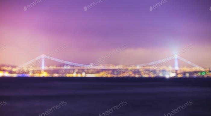 Istanbul Stadtbild bei Nacht