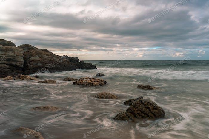 Serantes Beach Landscape, Asturias, Spain