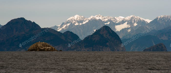 Mountains Islands Prince William Sound North Pacifci Ocean Alaska