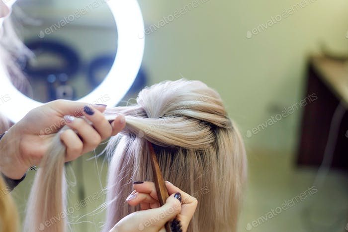 Creating a female hairstyle