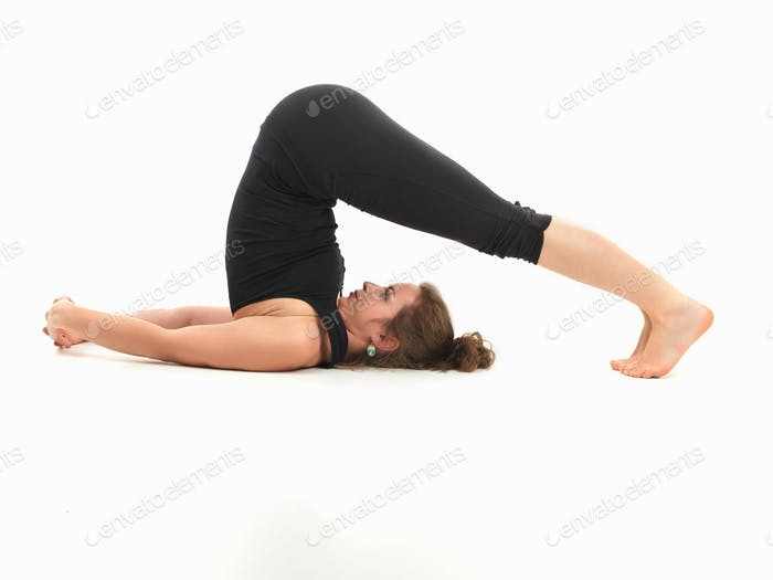 stretching yoga pose