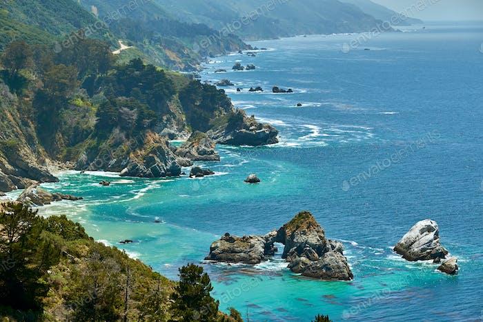 Pacific coast landscape in California