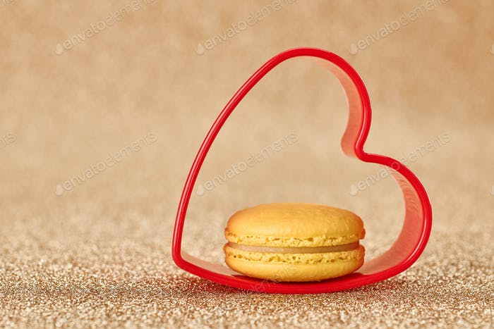 Valentines Day, Love. Heart.Macaron french dessert