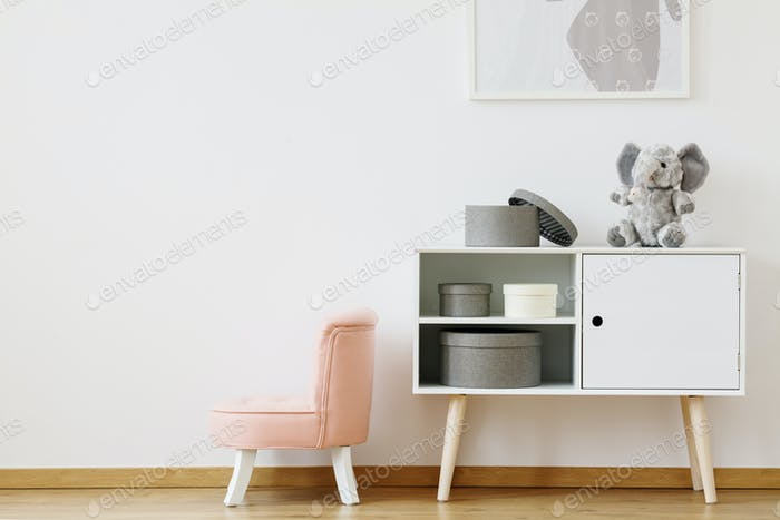 Chair in pink color
