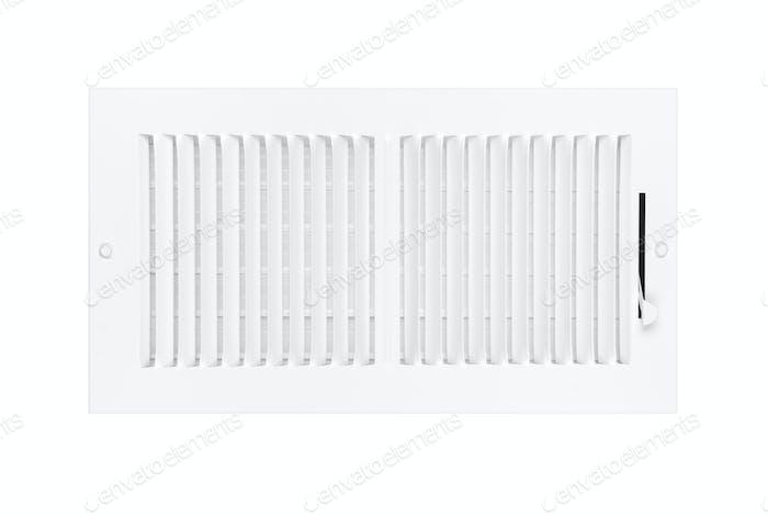 Klimaanlage und Heizlüftung auf weiß