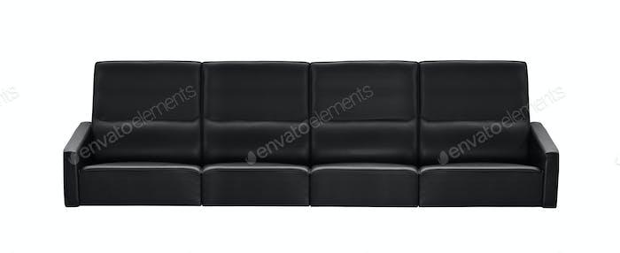 modern black leather sofa