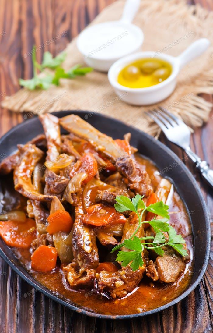 fried meat
