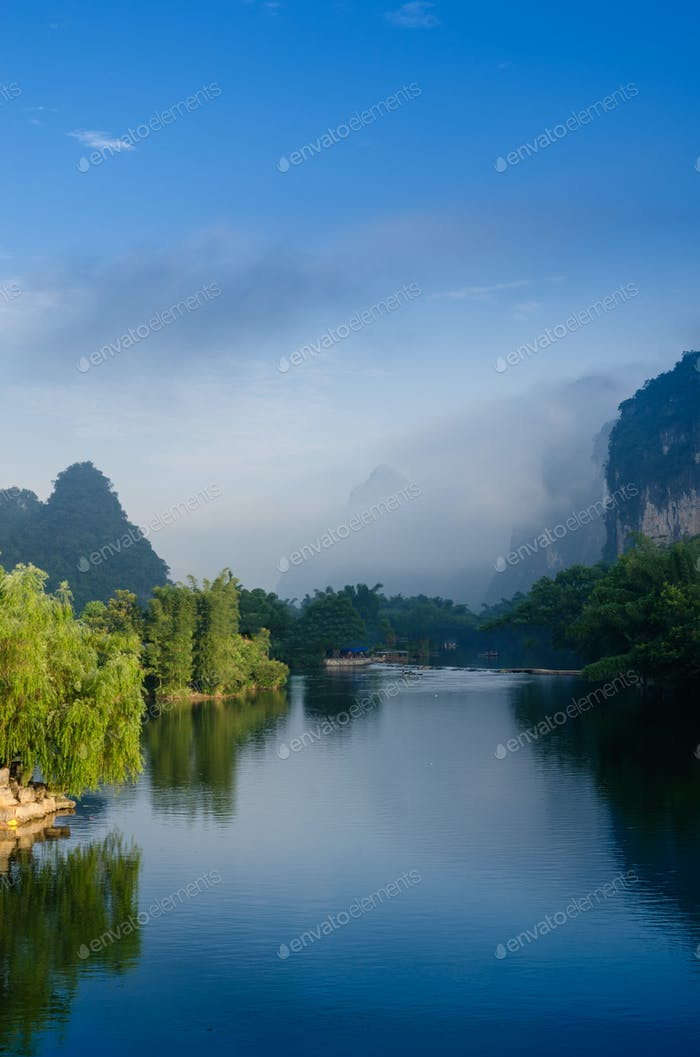 Beautiful Karst mountain landscape
