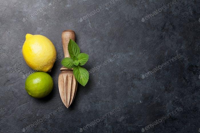 Ingredients for homemade lemonade