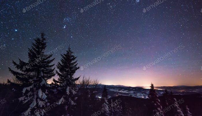 Magical view of the starry clear sky