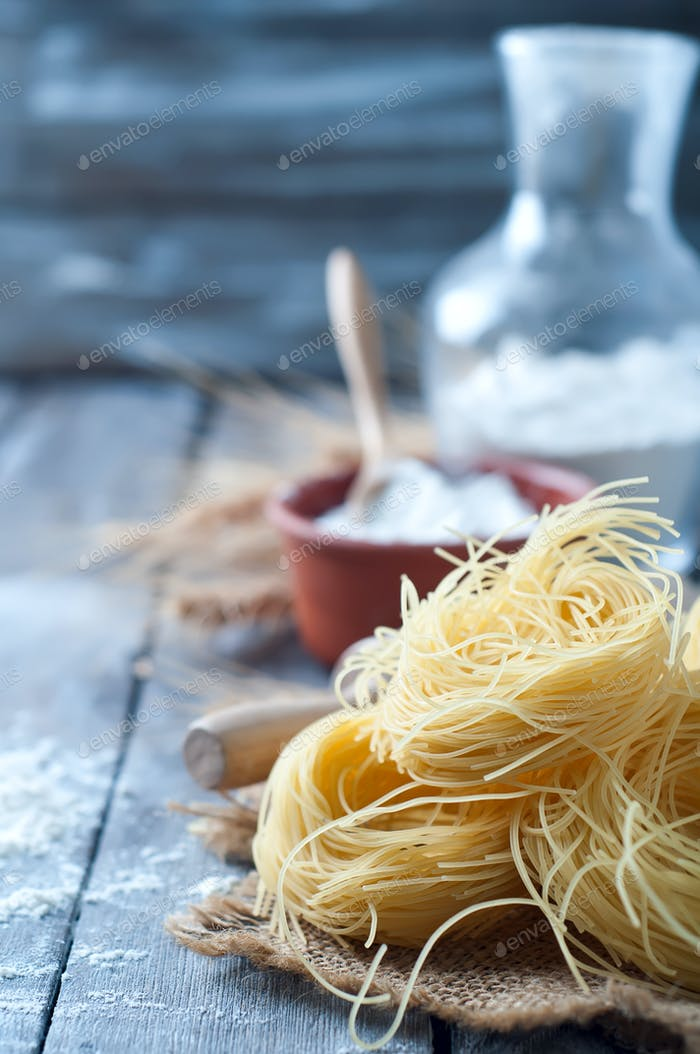 Fresh pasta and ingredient