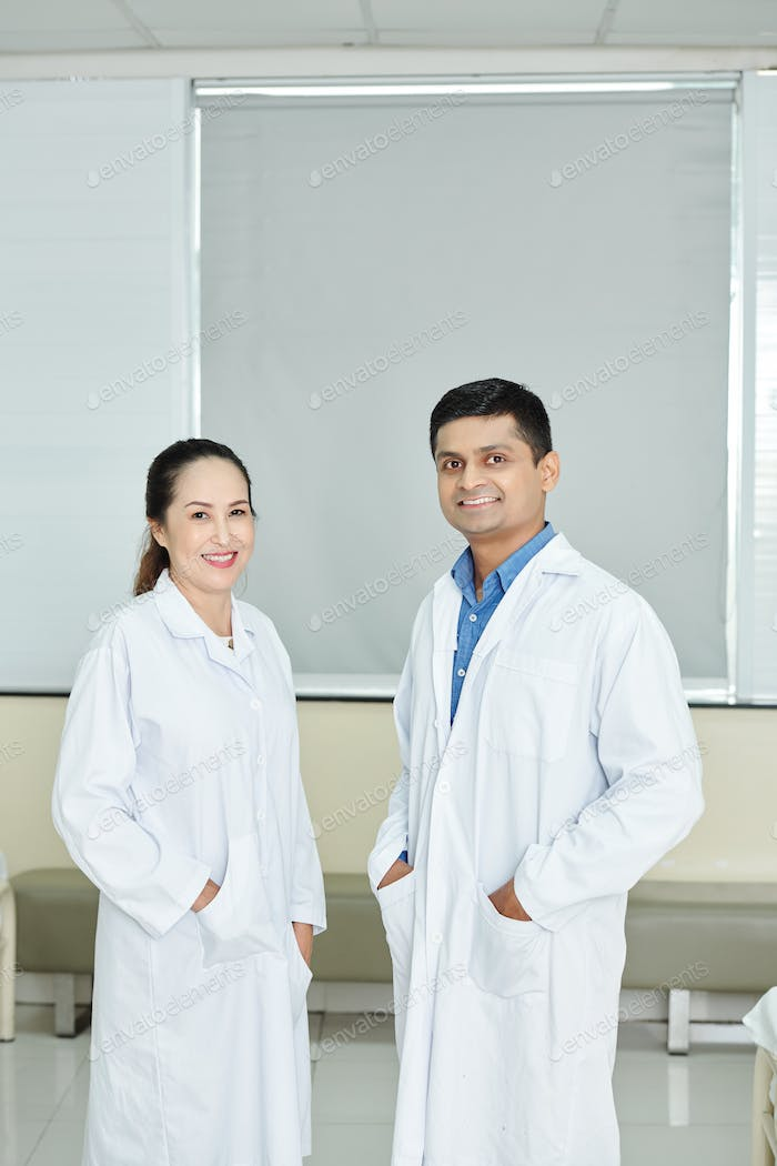 Doctor with nurse at hospital