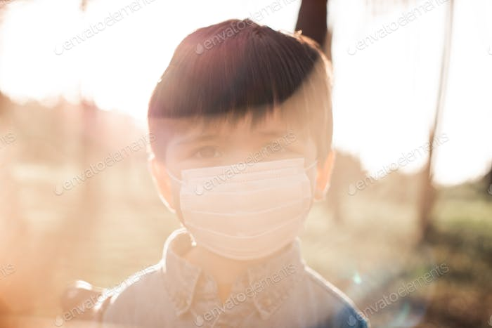 Blurry background of a kid portrait using air mask