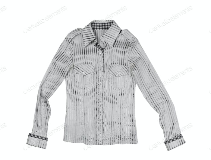 Ladies fashion striped shirt