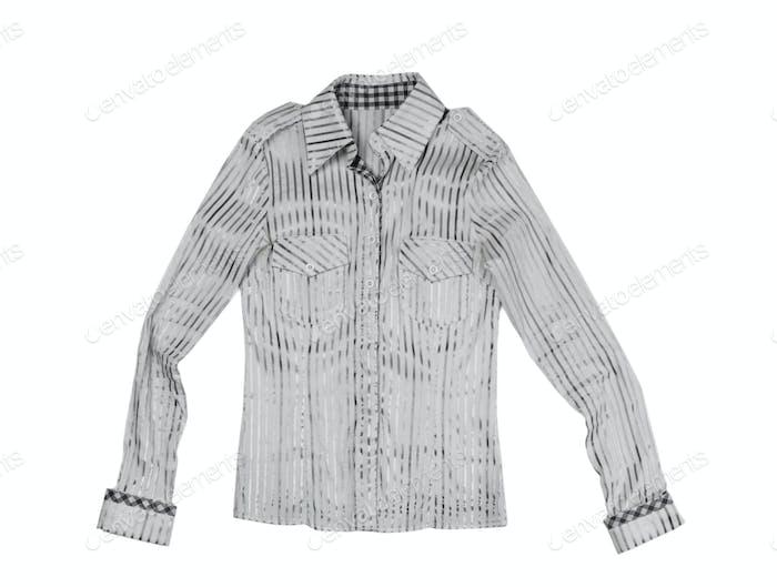 Ladies fashion striped shirt