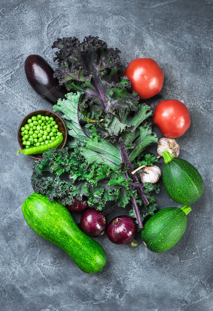 Various vegetables above