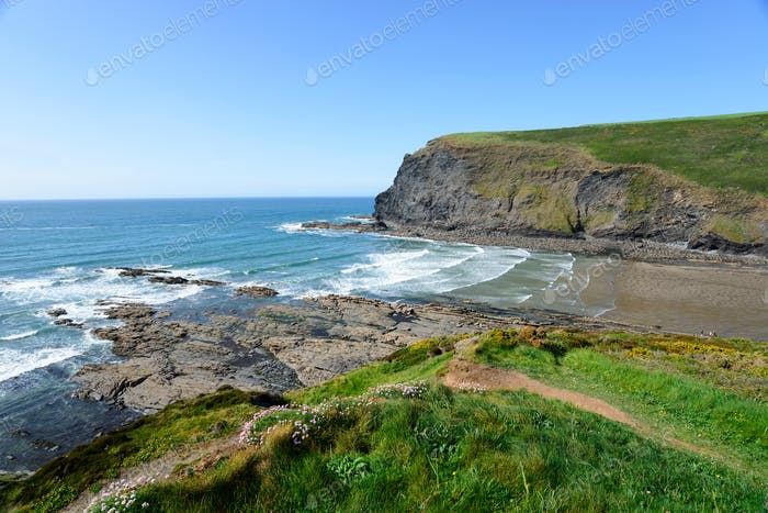 Crackington Haven in Cornwall