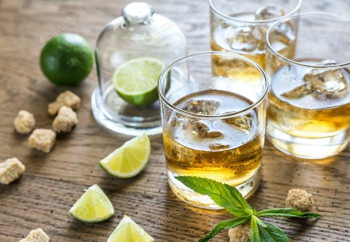 Gläser Rum