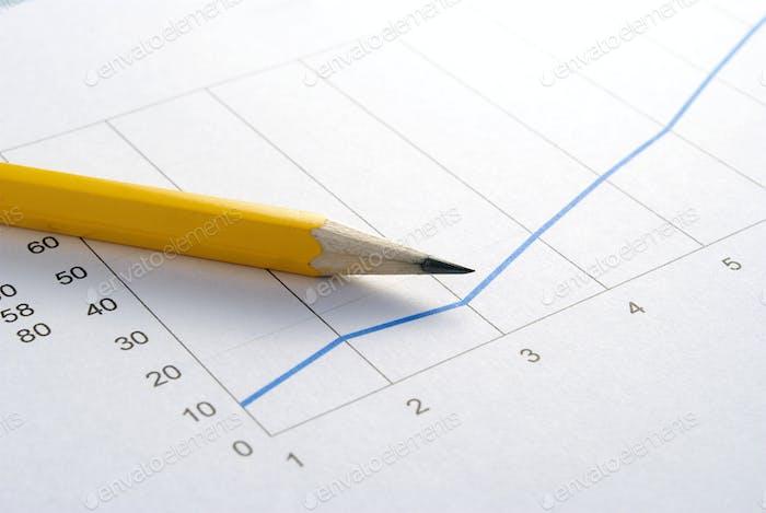 Bleistift und Graph