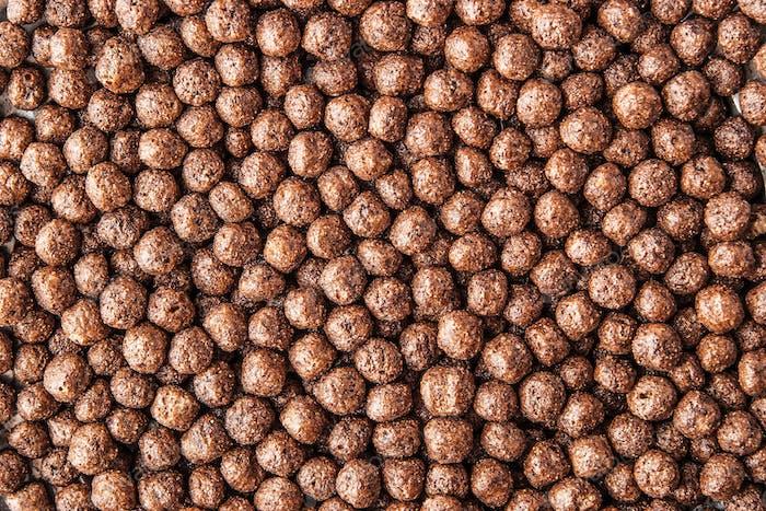 Chocolate crisp ball background