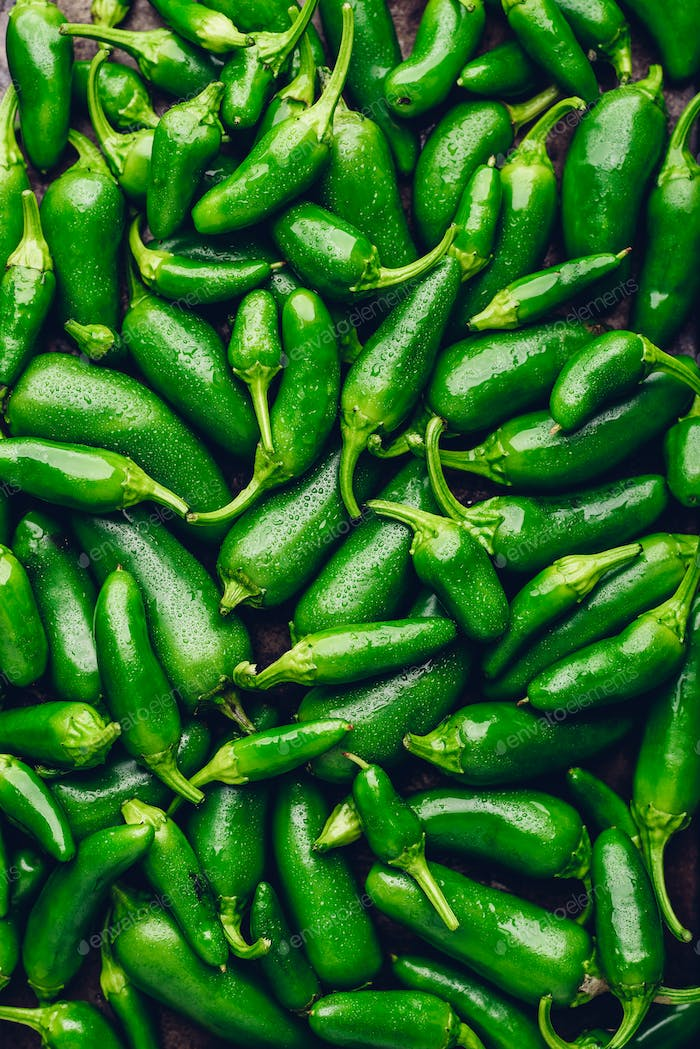 Background of Green Jalapeno Peppers