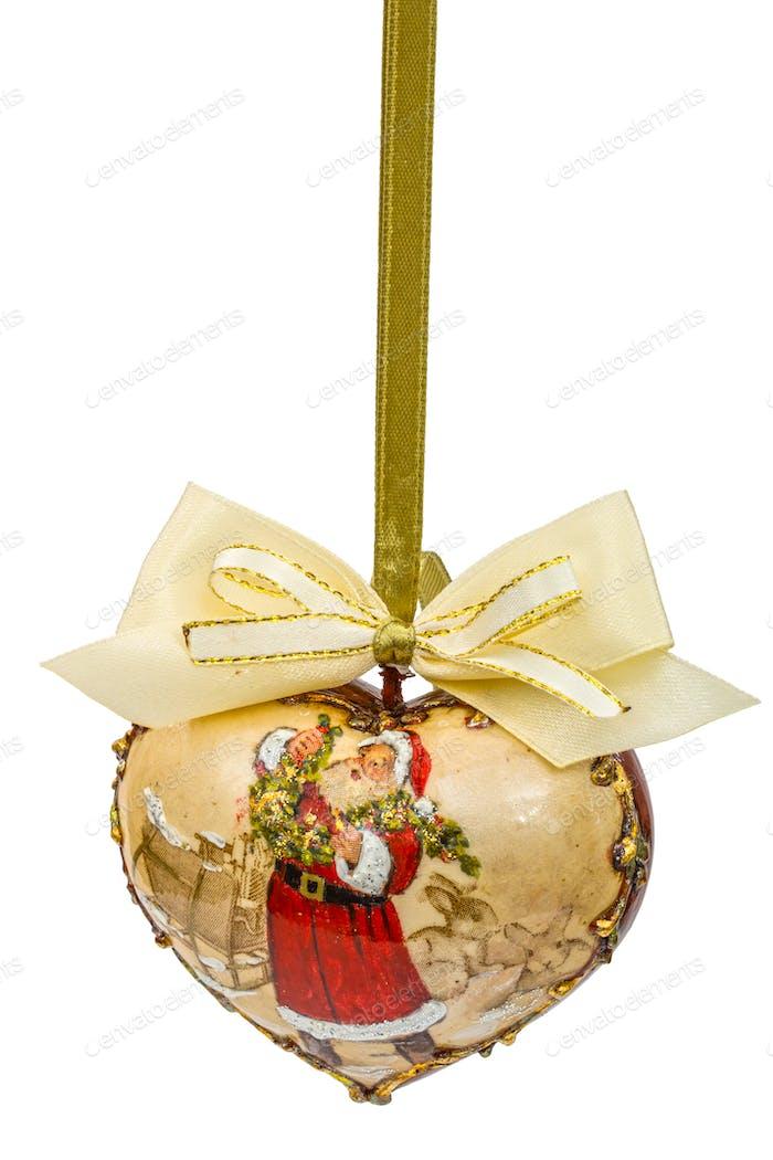 Dekoration in Form von Anhängern in Form von Herzen für Weihnachten