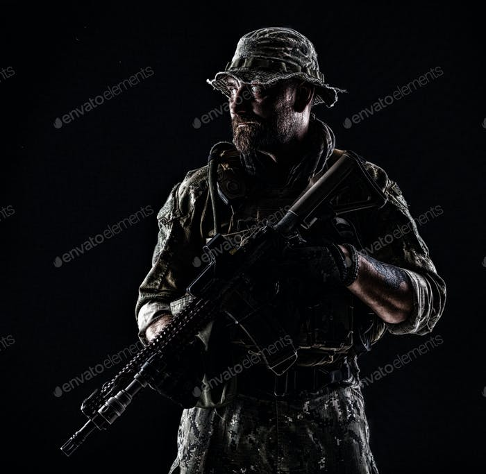Bearded Spec ops Operator