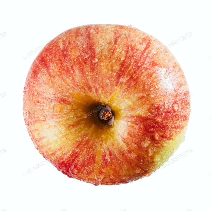 Schöner roter Apfel auf weißem Hintergrund.