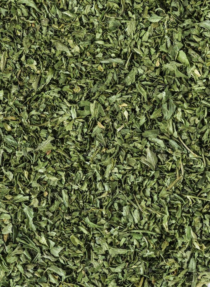 Nahaufnahme von Teeblättern