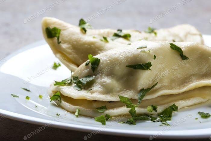 Pierogi, pyrohy or dumplings