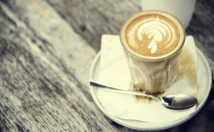 Coffee Caffeine Beverage Drink Cafe Latte Art Concept