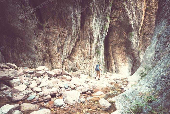 Wanderung in der Schlucht