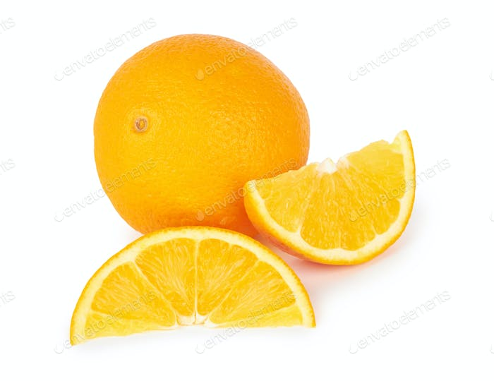 Orange fruit isolated on a white background